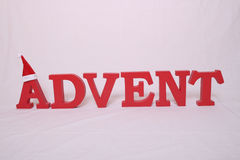 Advent contain letters Royalty Free Stock Image