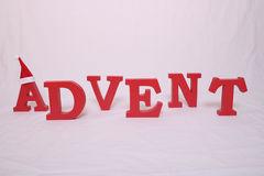 Advent contain letters Royalty Free Stock Photography