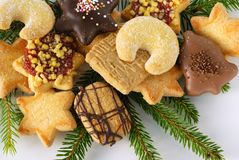 Advent cookies Royalty Free Stock Photos