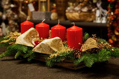 Advent Decoration Fotografía de archivo libre de regalías
