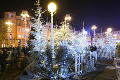 Advent decoration on Jelacic Square Stock Image