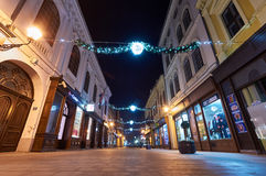 Advent decoration in Vukovar. Stock Photo