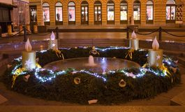 Advent decoration in Zagreb Stock Photography