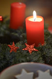 Advent flame Royalty Free Stock Photos