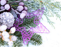 Advent floristry, floristry grave Stock Photo