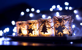 Advent, four candles decorated Stock Photography