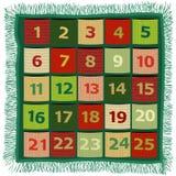 Advent handcraft calendar. Christmas background with Advent calendar Stock Photos