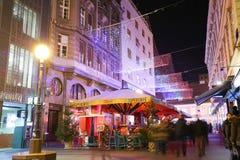 Advent i stad av Zagreb Arkivfoto