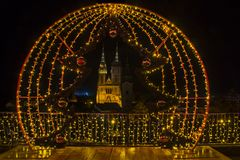 Free Advent In Zagreb - Night Panorama Of Zagreb Cathedral At The Tim Royalty Free Stock Photo - 133556405