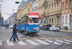 Advent Market in de eigenschap van Zagreb stock fotografie