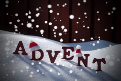 Advent Mean Christmas Time Snow Santa Hat Royalty Free Stock Images