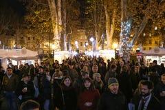 Advent på Zrinjevac parkerar Royaltyfri Bild