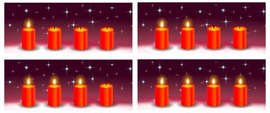 Advent red candle holiday background Royalty Free Stock Images