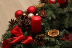 Advent Season, quatre bougies de combustion Photo stock