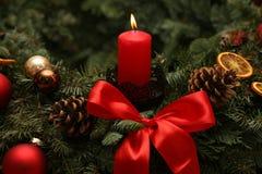 Advent Season, quatre bougies de combustion Images stock