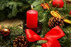 Advent Season, quatro velas de queimadura Imagens de Stock Royalty Free