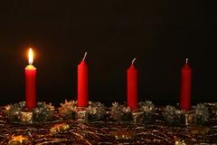 Advent Season, quatro velas de queimadura Fotos de Stock