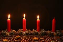 Advent Season, quattro candele di bruciatura Immagini Stock