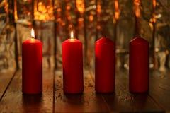 Advent Season, vier kaarsen het branden Royalty-vrije Stock Foto
