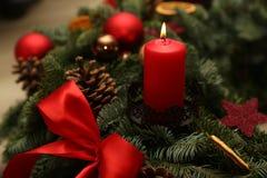 Advent Season, vier Kerzen Brennen Lizenzfreies Stockfoto