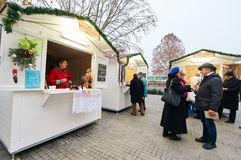 Advent shops in Vukovar. Royalty Free Stock Images