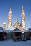 Advent in Szeged, Hungary stock image