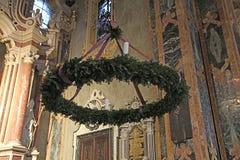 Advent Wreath Fotografía de archivo libre de regalías