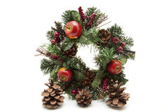 Advent wreath. To the to hang up at door Royalty Free Stock Photos