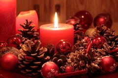Free Advent Wreath Royalty Free Stock Image - 21094236