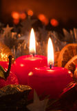 Advent wreath. Royalty Free Stock Photo