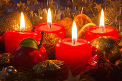 Four advents candles. Royalty Free Stock Images