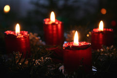 Advent wreath. Christmas time royalty free stock photography