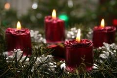 Advent wreath. Christmas time stock image
