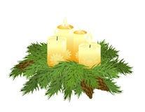 Advent wreath royalty free illustration