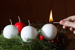 Advent Wreath Stockfotografie