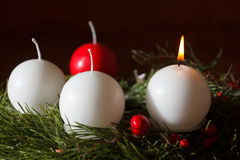 Advent Wreath Lizenzfreie Stockfotos