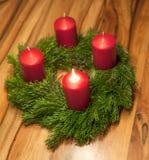 Advent Wreath Royaltyfria Bilder