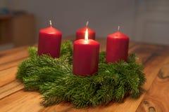 Advent Wreath Royaltyfri Fotografi