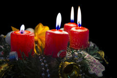 Advent Wreath Royalty-vrije Stock Foto