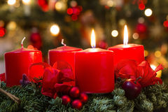Advent Wreath Fotografia Stock