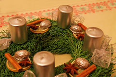 Advent Wreath Fotografia de Stock Royalty Free