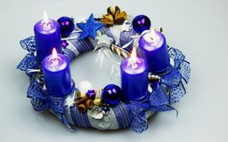 Advent Wreath Fotografie Stock Libere da Diritti