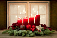 Advent Wreath Stockfotos