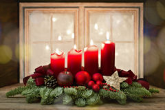 Advent Wreath Stockfotos