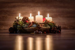 Advent Wreath Fotos de archivo libres de regalías
