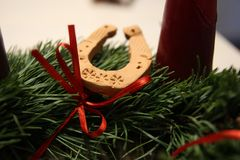 Advent Wreath Stockfoto