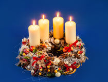 Advent Wreath Lizenzfreie Stockfotografie