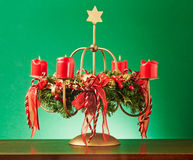 Advent Wreath Imagenes de archivo