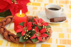 Advent wreath. Beginning of Advent and making Christmas decoration royalty free stock photography