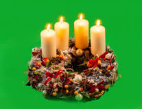 Advent wreath. With candles Royalty Free Stock Photo